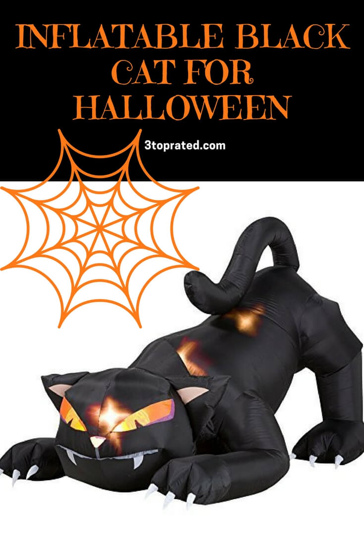 Inflatable Black Cat, Inflatable Black Cat With Moving Head