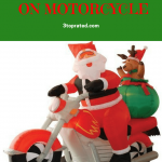 Inflatable Santa On Motorcycle