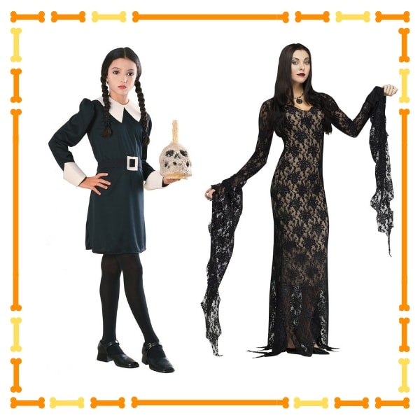 Wednesday Addams Costume and Morticia Costume