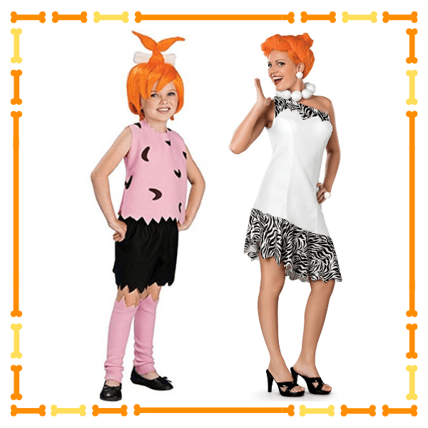 Wilma Costume and Pebbles Costume